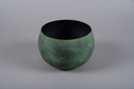 A017JY Green metal planter D20cm H13cm