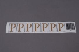 A017K4 Pochette de 70 lettres P 33mm