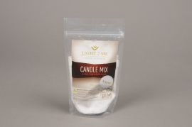 A017L3 Pack of 200gr powder white and silver candle