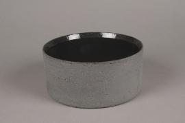 A017N8 Coupe en terre cuite gris D20cm H9cm