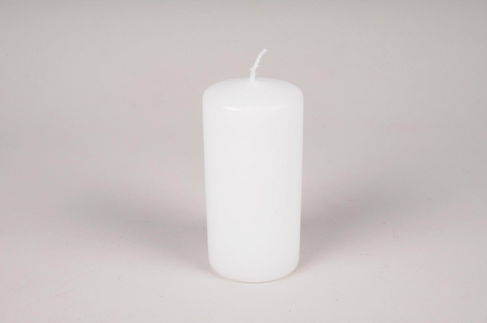 A017RP Boîte de 12 bougies cylindre blanches D6cm H12cm
