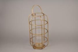 A017S0 Lanterne en métal or laiton D24cm H45cm