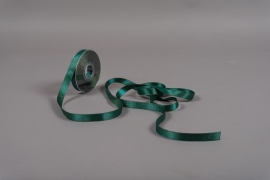 A017UN Green satin ribbon 15mm x 25m