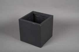 A017VV Pot fibre gris anthracite 30x30cm H30cm