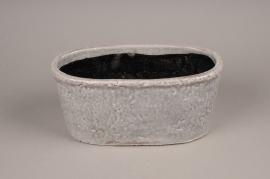 A017W6 Jardinière en céramique gris 30x15cm H14cm
