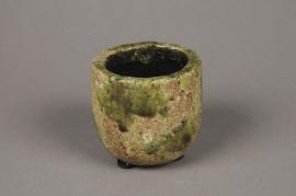 A017ZH Cache-pot en céramique vert D8cm H8cm