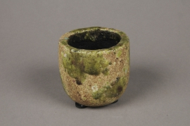 A017ZH Green ceramic planter D8cm H8cm