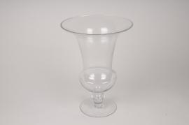 A018A3 Vase médicis en verre D27cm H38cm
