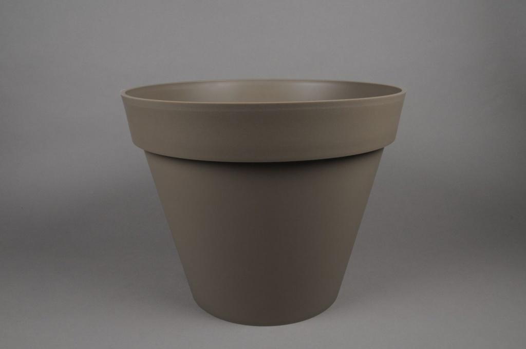 A018A6 Pot toscane taupe D48 H40cm