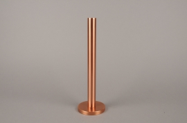 A018E0 Copper metal candle holder H31.5cm