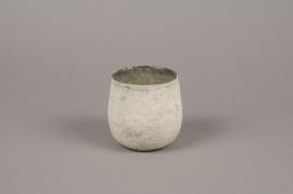 A018G2 Grey glass candle jar D10cm H10cm