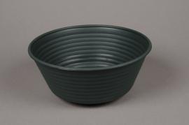 A018H7 Bowl plastic dark green D23.5cm H10cm