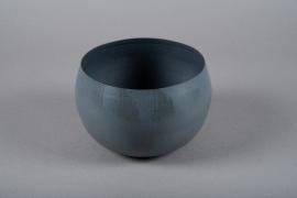 A018JY Cache-pot en métal gris D20cm H13cm