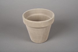 A018KF Brown horticultural pot terracotta D15cm H14cm