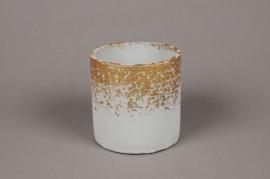 A018OZ Grey ceramic planter D11cm H11cm