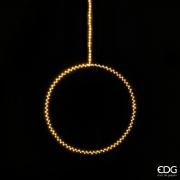 A018QL Cercle en métal argent 190 LED D40cm