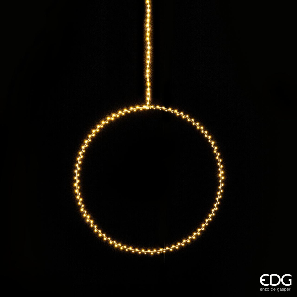 A018QL Circle in silver metal 190 LED D40cm