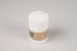 A018RP Boîte de 12 bougies blanches naturelles D5.5cm H9cm