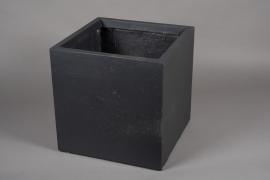 A018VV Pot fibre gris anthracite 40x40cm H40cm