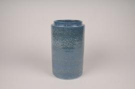 A018XD Vase en céramique bleu D16cm H26cm