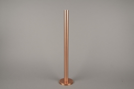 A019E0 Copper metal candle holder H51.5cm