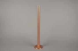 A019E0 Bougeoir métal cuivre H51.5cm