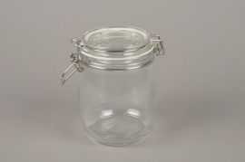A019H9 Glass jar with cover D11cm H14cm