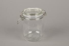 A019H9 Bocal en verre avec couvercle D11cm H14cm