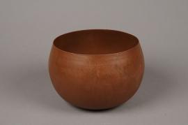 A019JY Cache-pot en métal rouille D20cm H13.5cm