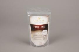 A019L3 Sachet 200gr granule bougie blanche rouge