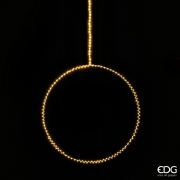 A019QL Cercle en métal argent 230 LED D50cm