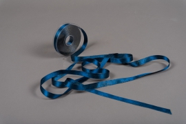 A019UN Blue satin ribbon 15mm x 25m