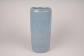 A019XD Vase en céramique bleu D15cm H34.5cm