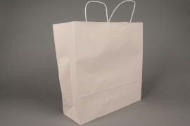 A020AS Bag of 25 pink kraft bags 36x12cm H41cm