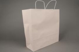 A020AS Bag of 25 pink kraft bags 36x12cm H41cm