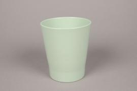 A020DO Cache-pot en céramique vert D14cm H15cm