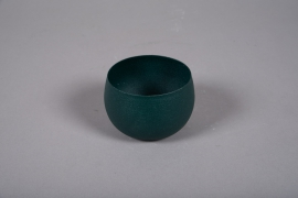 A020JY Cache-pot en métal vert D10cm H7cm