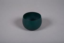 A020JY Green metal planter D10cm H7cm