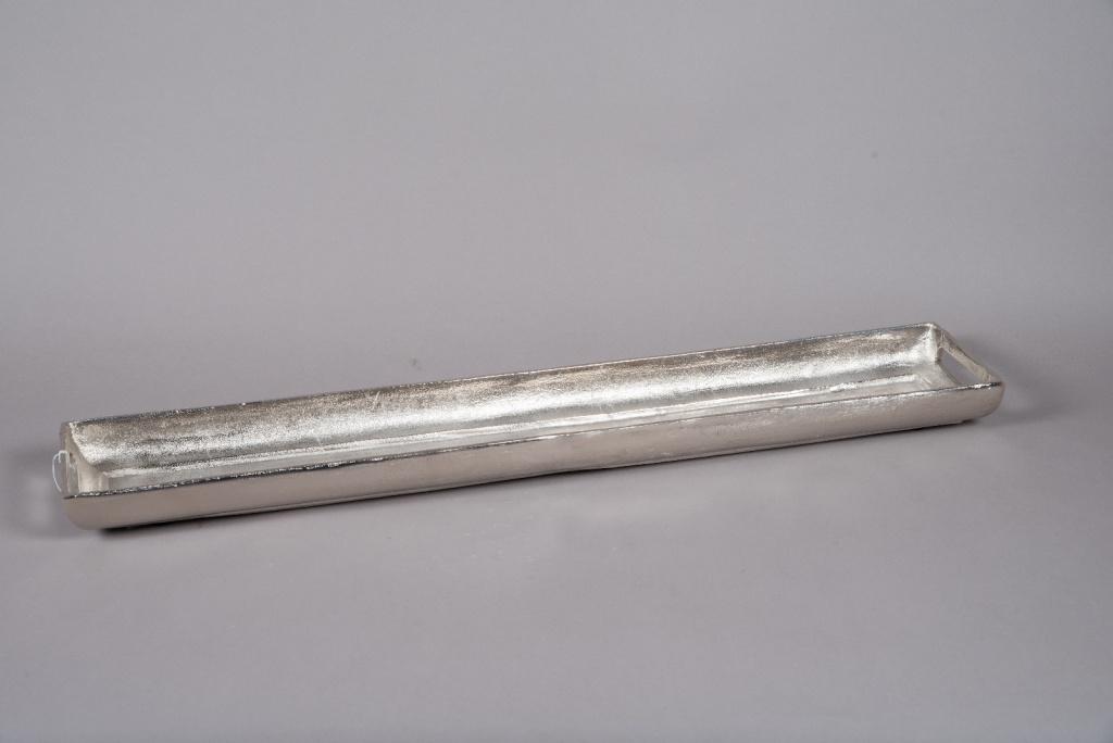 A020KU Silver aluminium tray 96x16cm H6cm