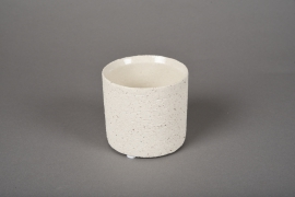 A020N8 White terracotta planter D9cm H8.5cm