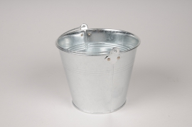 A020NH Bucket zinc natural D16cm H13cm