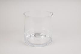 A020PQ Vase cylindre en verre D17.5cm H18cm