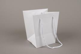 A020QX Paquet de 10 sacs trapèze blanc 16x16cm H18cm