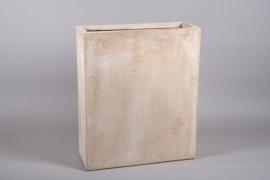 A020VV Sand fiberglass tall planter 22cm x 61cm H72cm