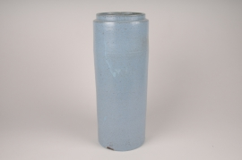 A020XD Vase en céramique bleu D16cm H45cm