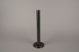 A021E0 Black metal candle holder H31.5cm