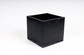 A021GF Cache-pot en zinc noir 18x18 H18cm