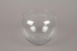A021H9 Vase glass sphere D17cm H13cm