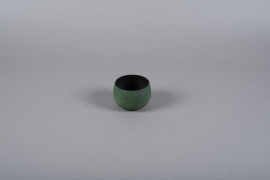 A021JY Green metal planter D10cm H7cm