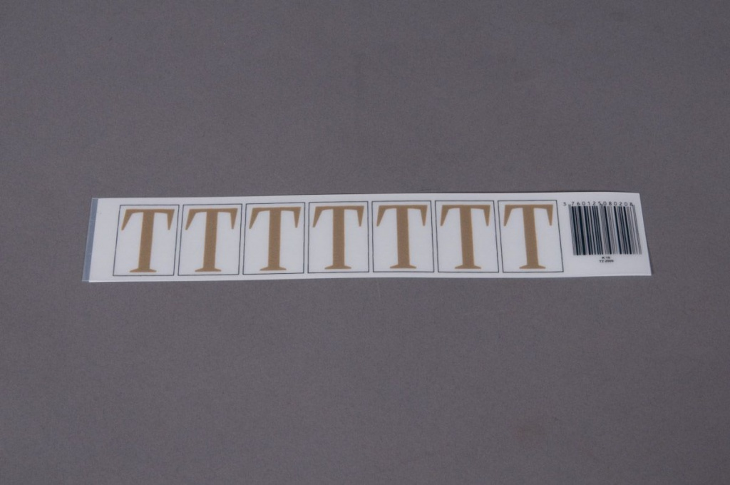 A021K4 Set of 50 letters T 33mm